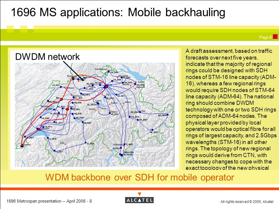 1696 MS applications: Mobile backhauling