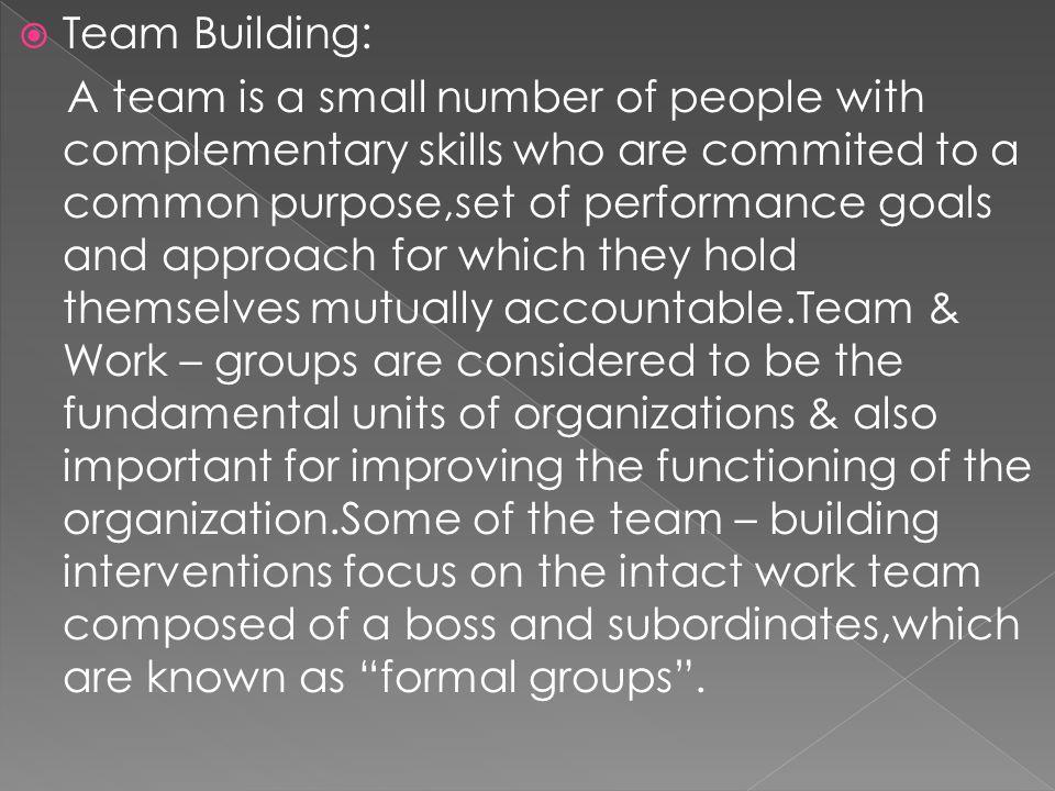 Team Building: