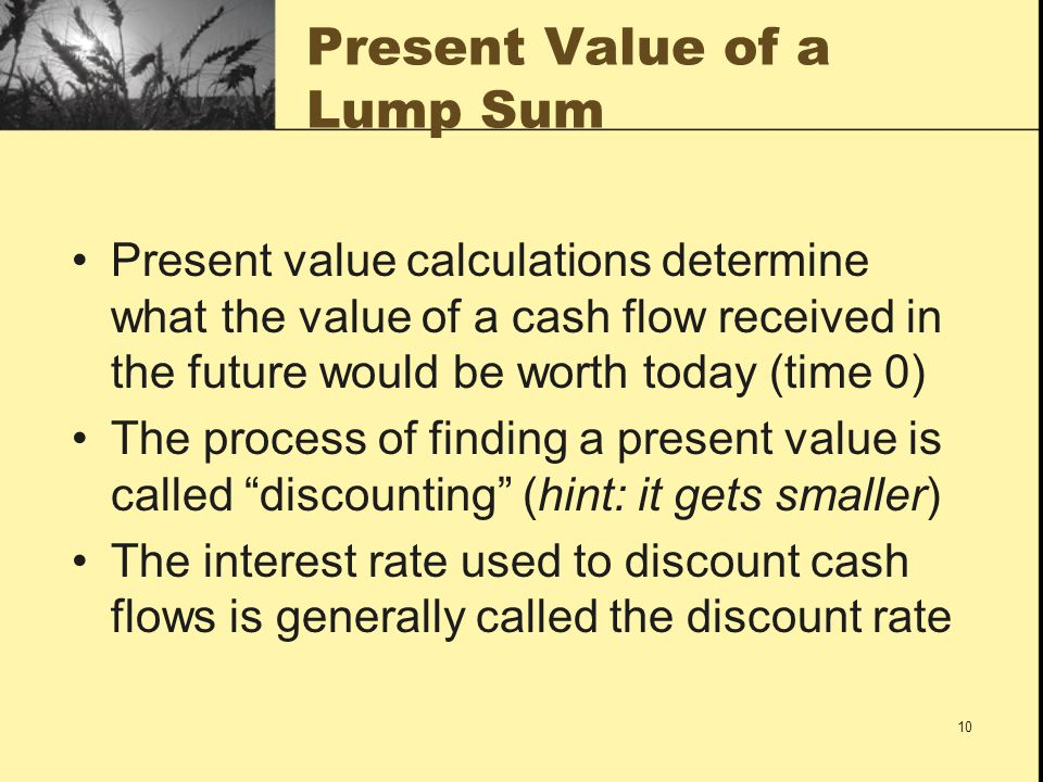 Present Value of a Lump Sum