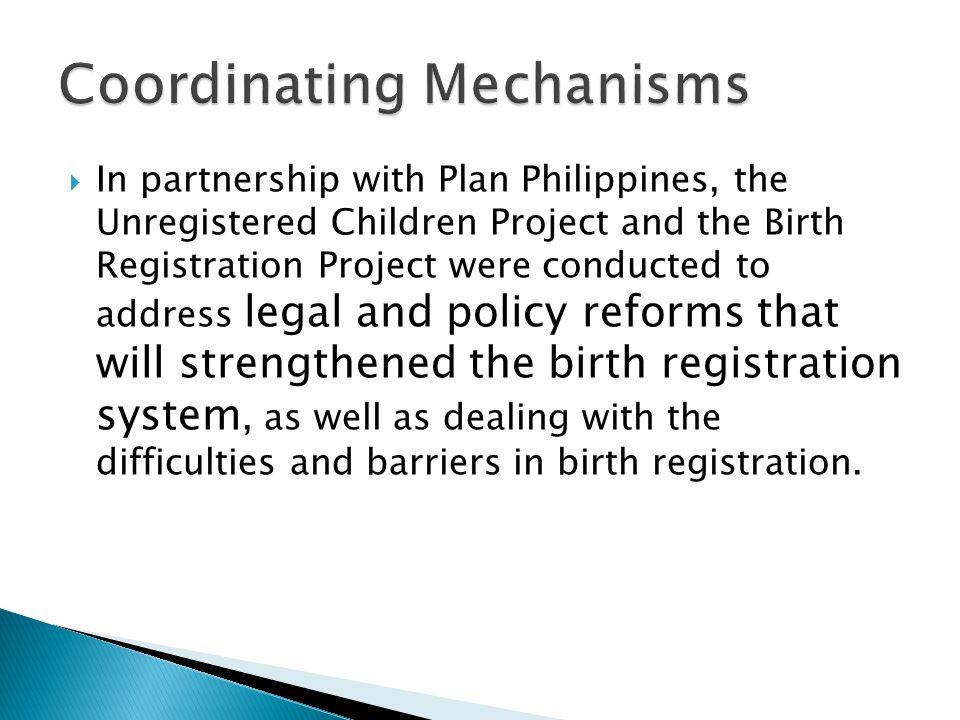 Coordinating Mechanisms