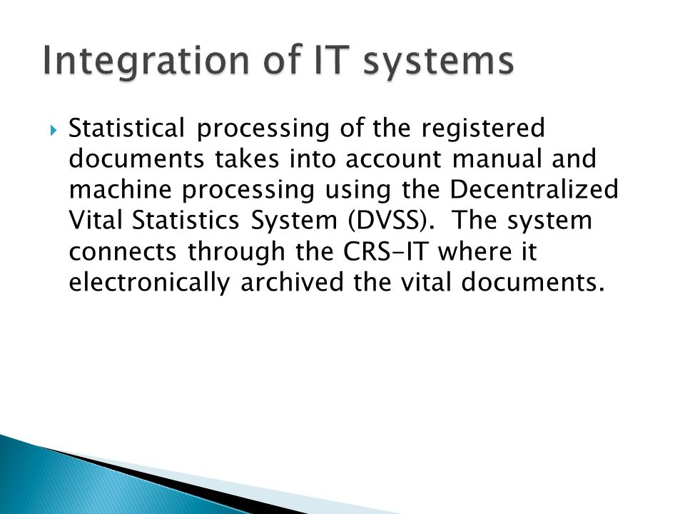 Integration of IT systems