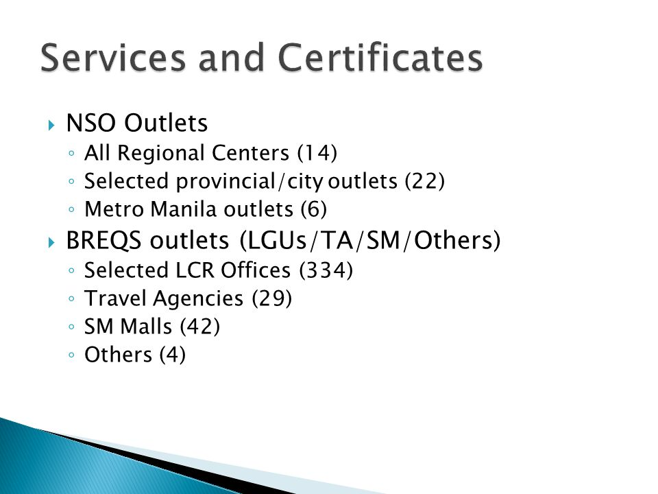 Services and Certificates