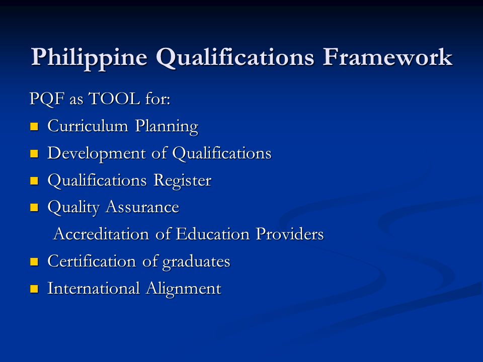 Philippine Qualifications Framework