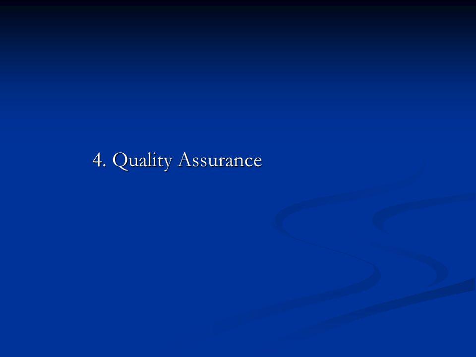 4. Quality Assurance