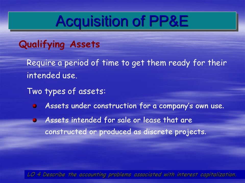 Acquisition of PP&E Qualifying Assets