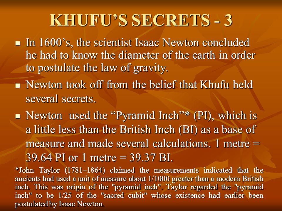 KHUFU'S SECRETS - 3