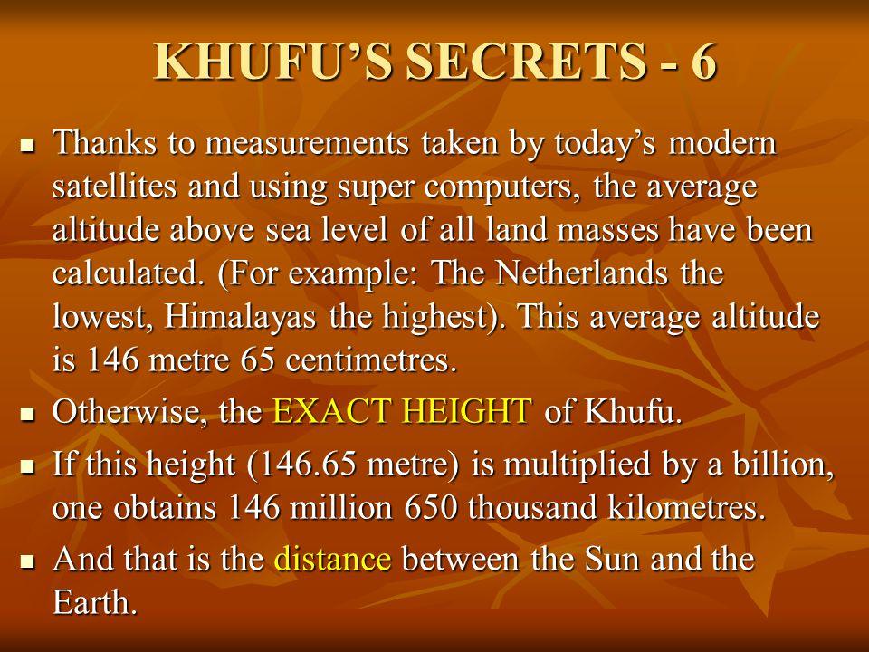 KHUFU'S SECRETS - 6