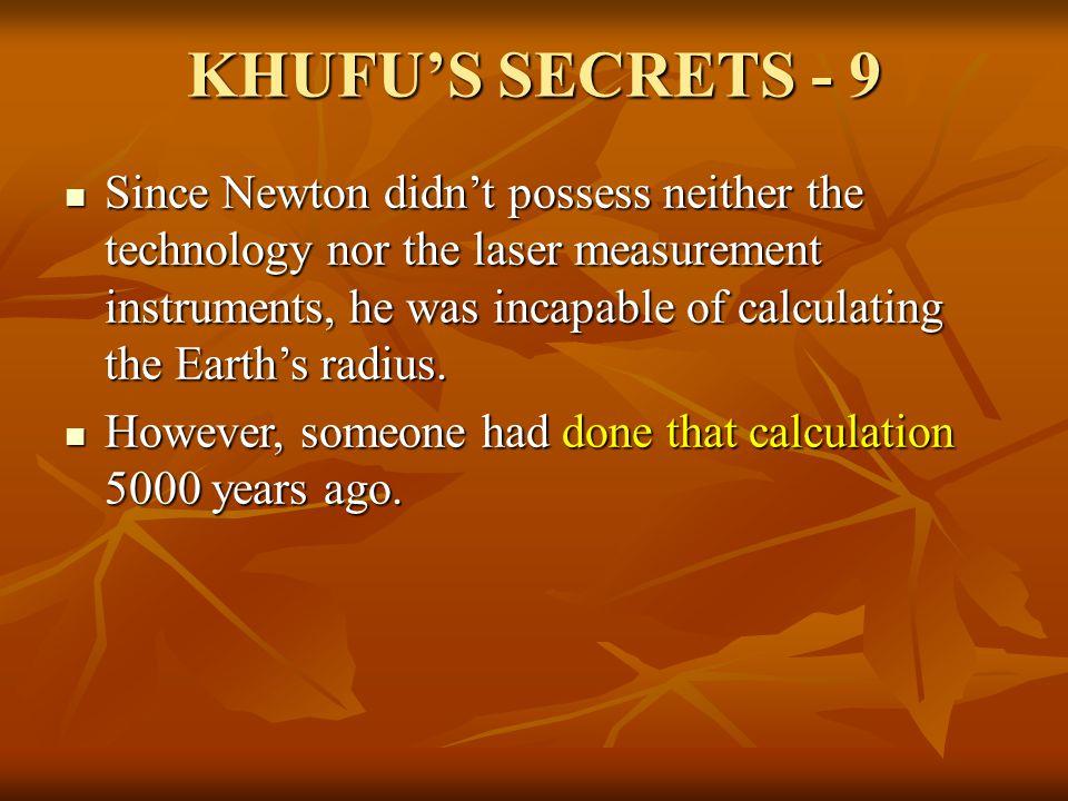 KHUFU'S SECRETS - 9