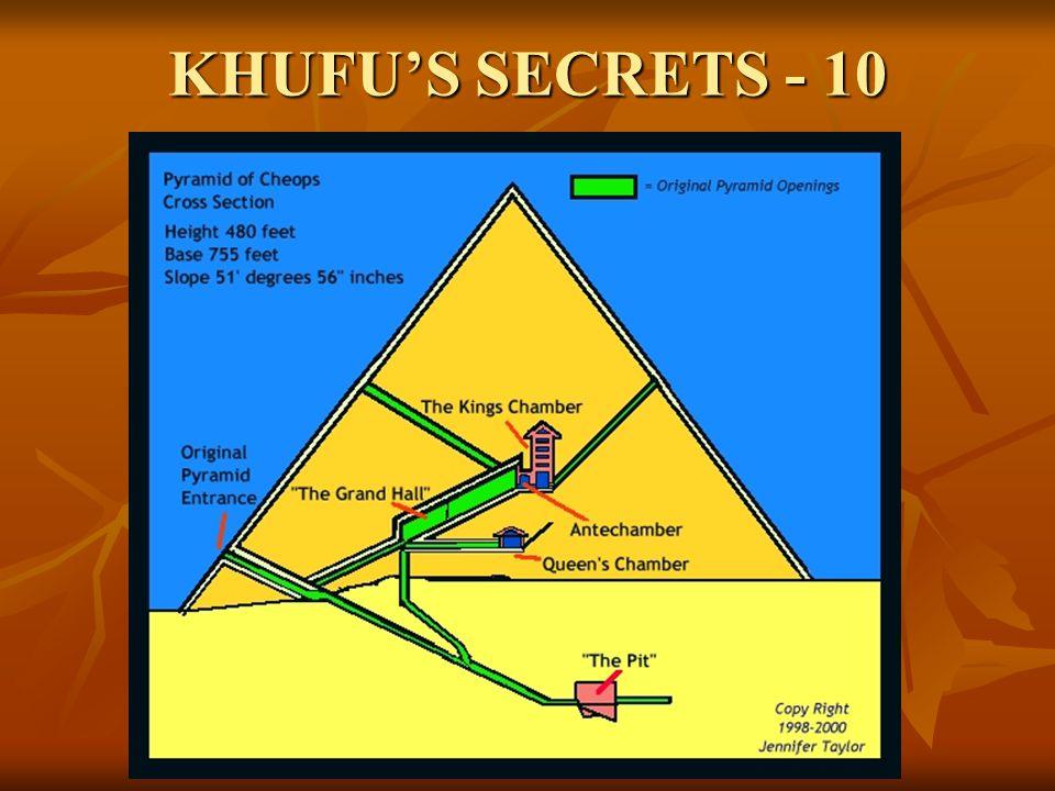 KHUFU'S SECRETS - 10