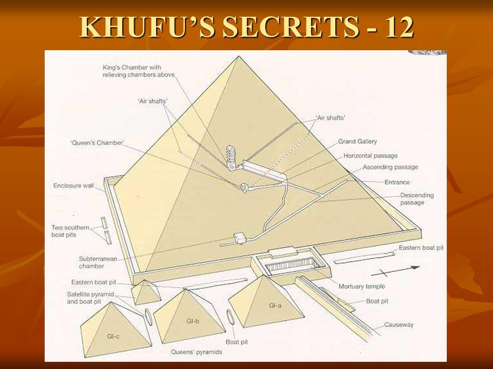KHUFU'S SECRETS - 12