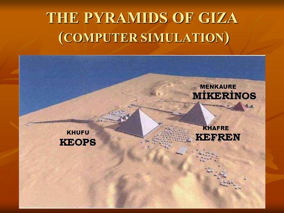 THE PYRAMIDS OF GIZA (COMPUTER SIMULATION)