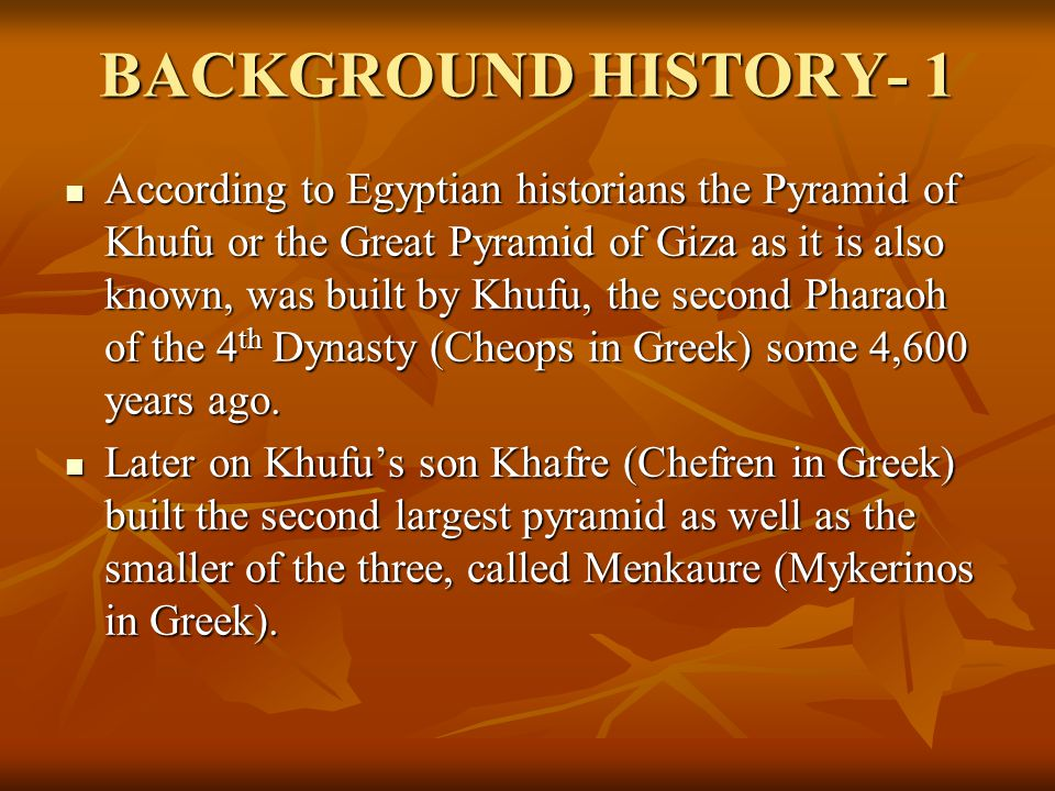 BACKGROUND HISTORY- 1