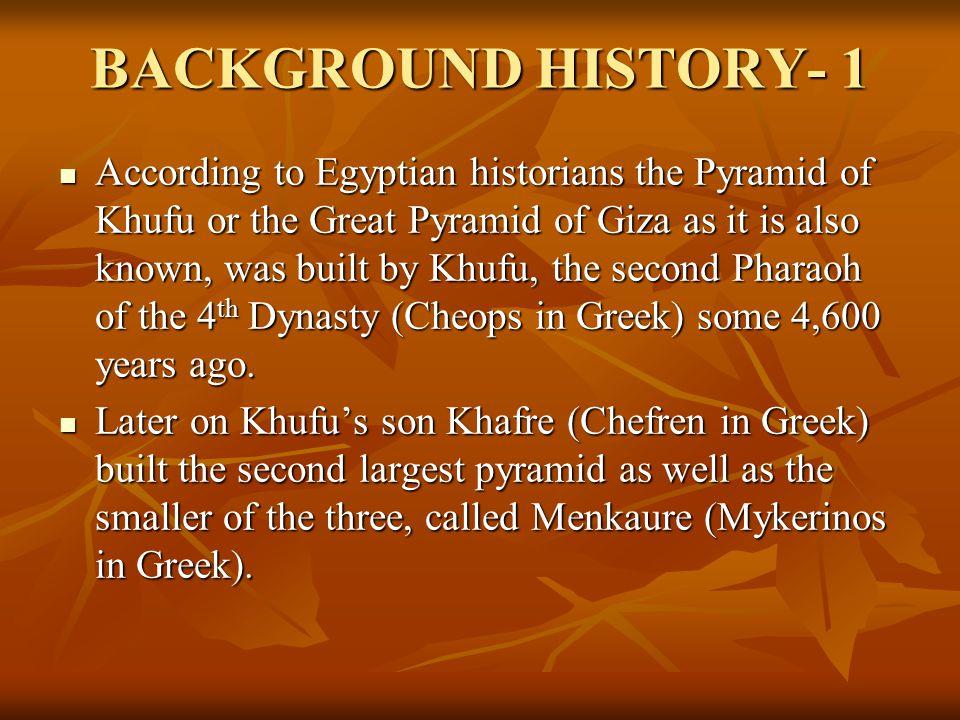 BACKGROUND HISTORY- 1