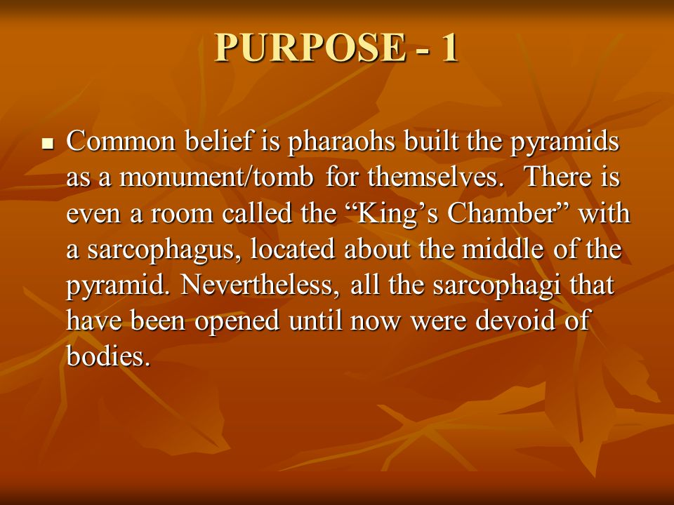 PURPOSE - 1
