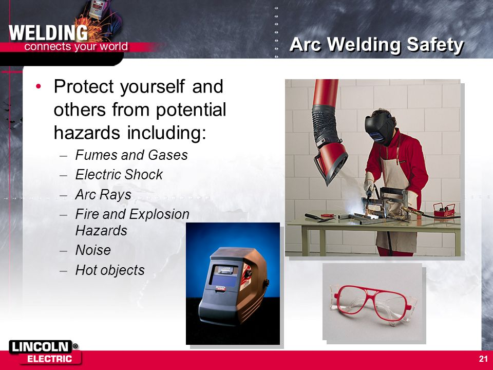 Protect yourself and others from potential hazards including: