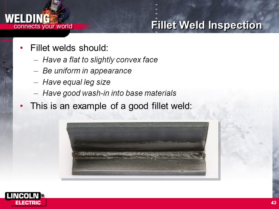 Fillet Weld Inspection