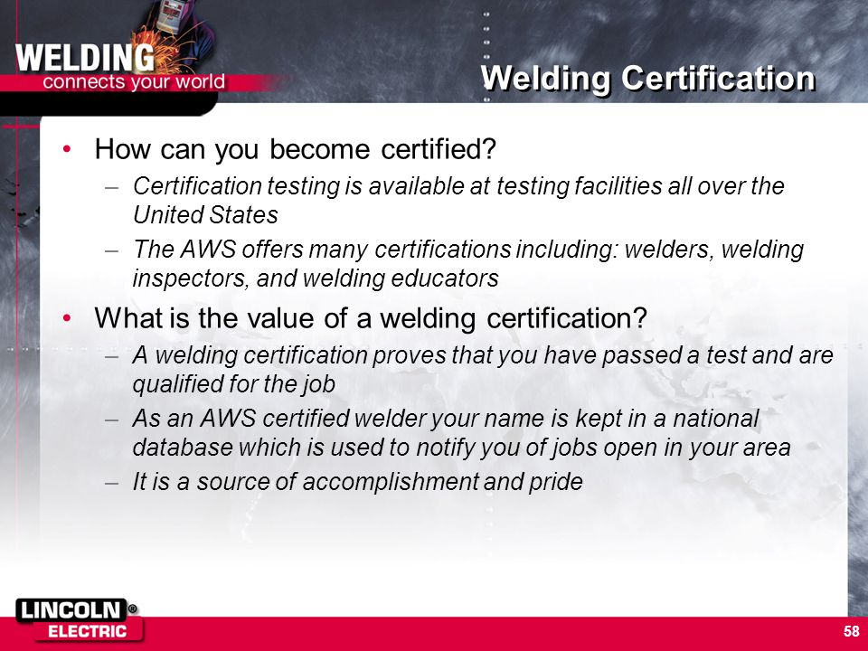 Welding Certification