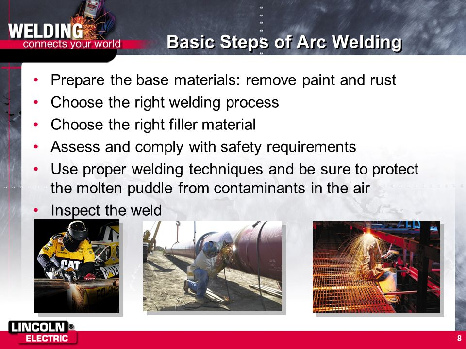Basic Steps of Arc Welding