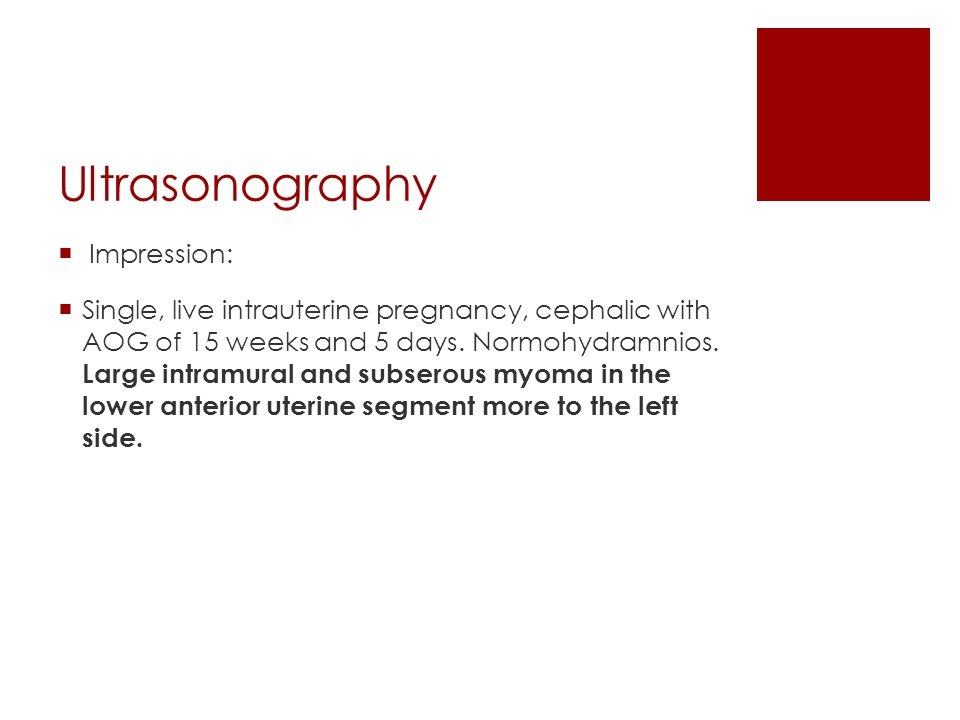 Ultrasonography Impression: