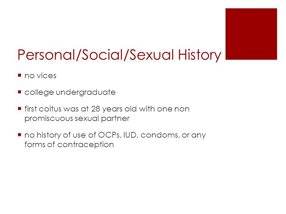 Personal/Social/Sexual History
