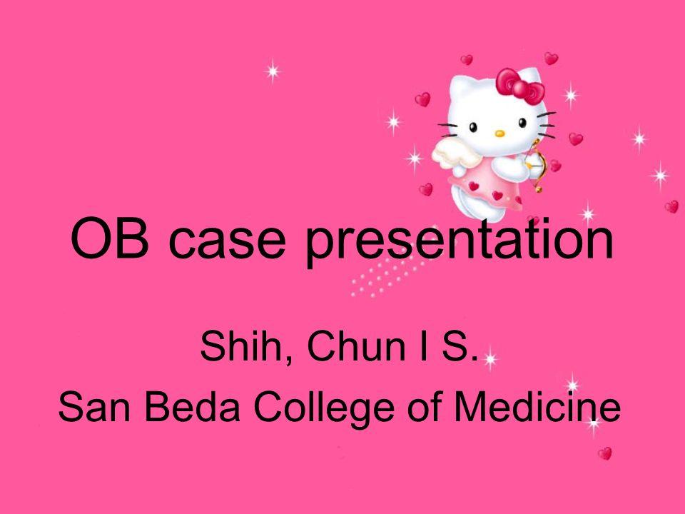 Shih, Chun I S. San Beda College of Medicine