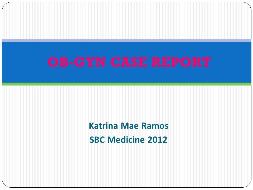 Katrina Mae Ramos SBC Medicine 2012