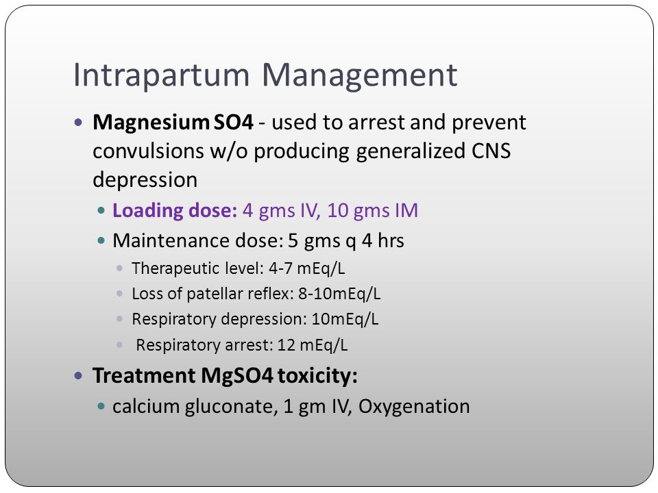 Intrapartum Management