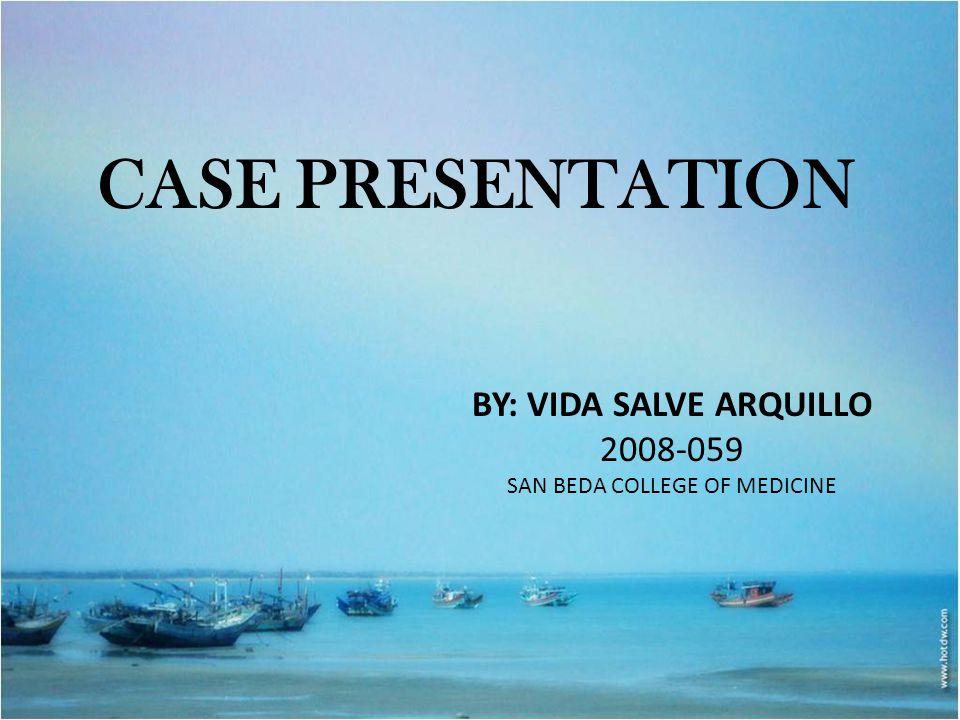 BY: VIDA SALVE ARQUILLO