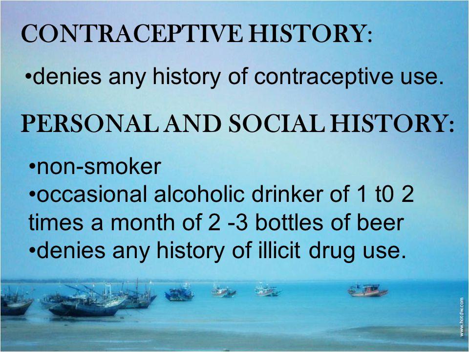 Contraceptive History: