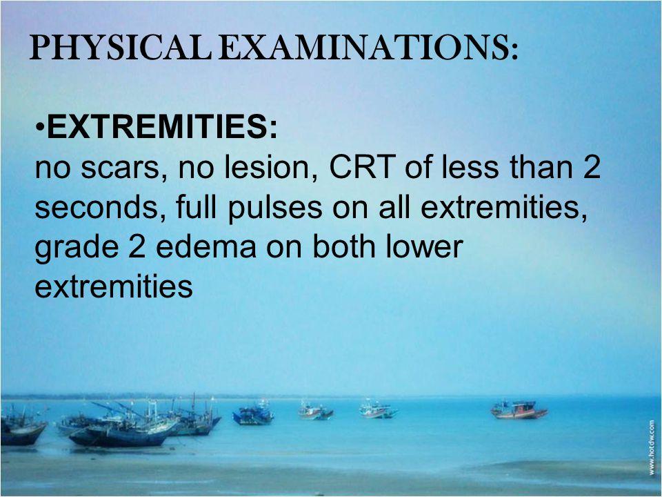 Physical examinations:
