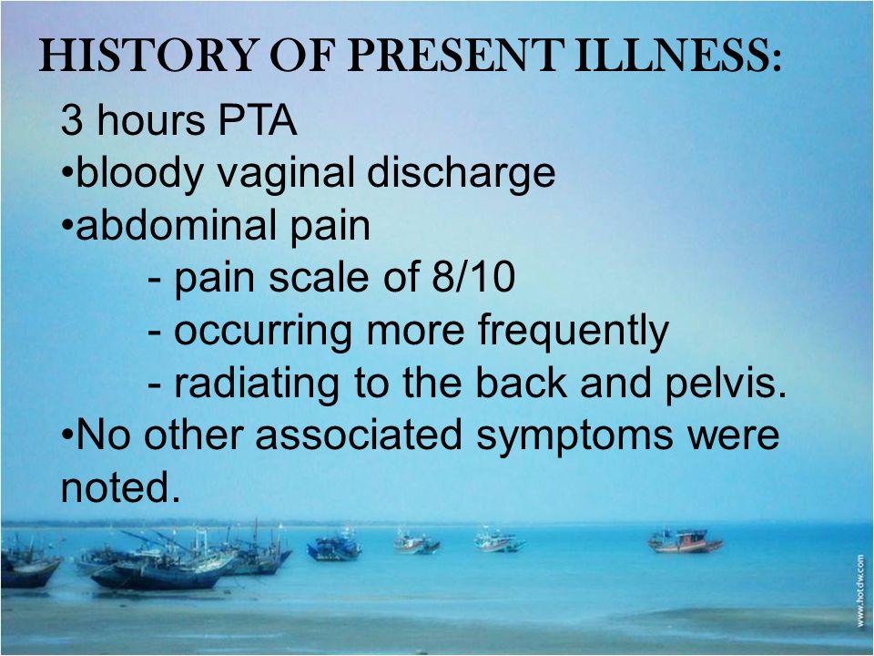 History of Present Illness: