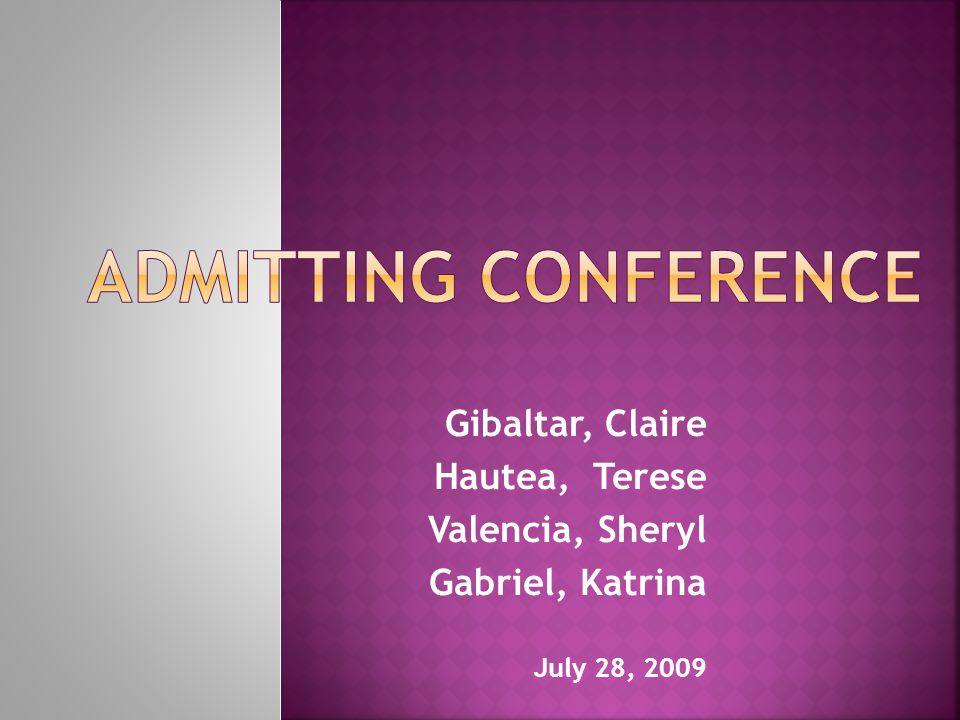 Admitting Conference Gibaltar, Claire Hautea, Terese Valencia, Sheryl