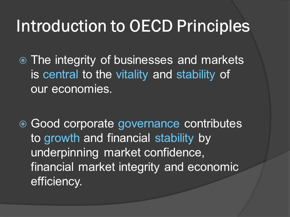 Introduction to OECD Principles
