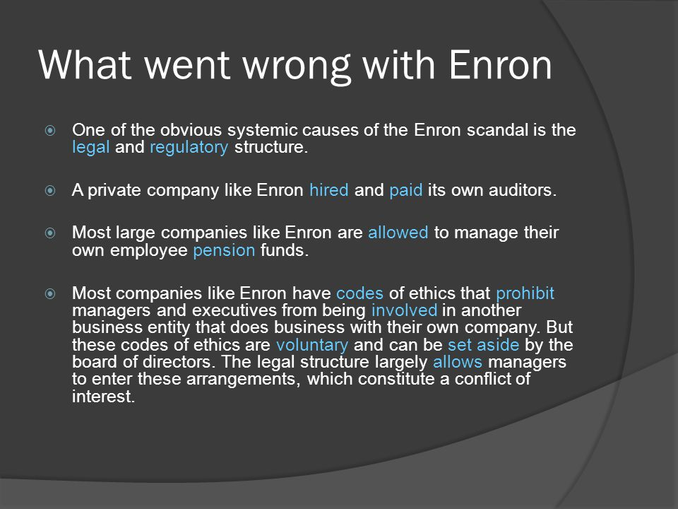 What went wrong with Enron