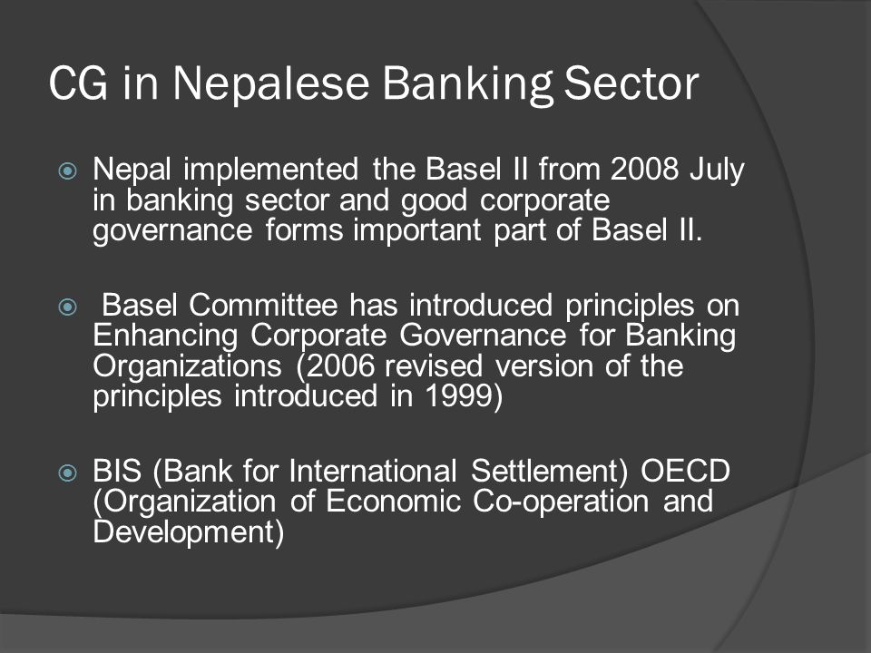 CG in Nepalese Banking Sector