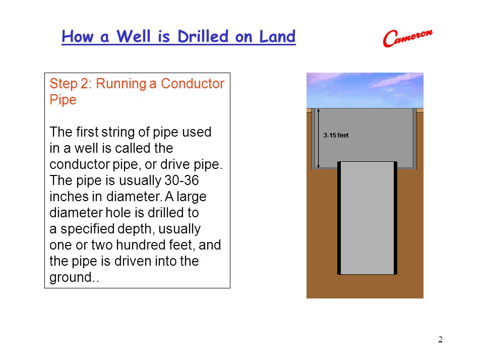 Step 2: Running a Conductor Pipe