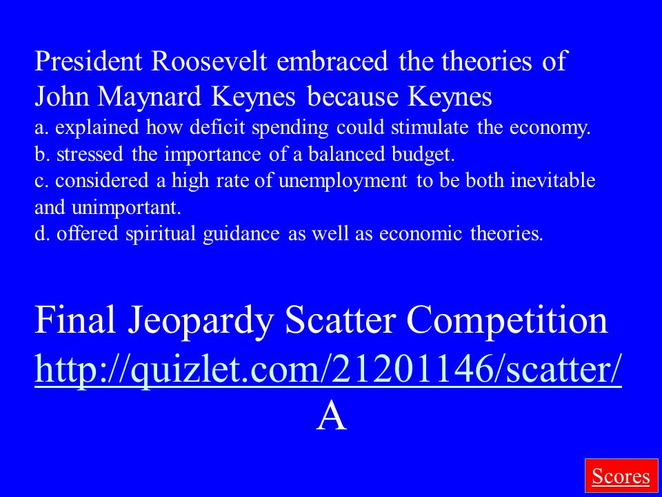 A Final Jeopardy Scatter Competition