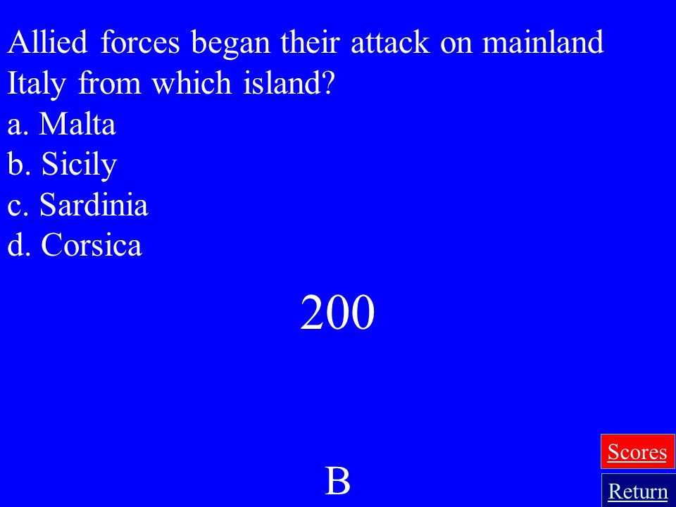 Allied forces began their attack on mainland Italy from which island