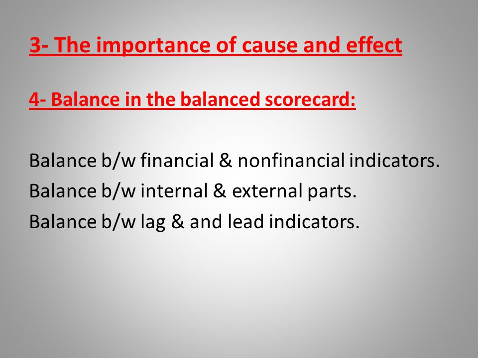 3- The importance of cause and effect
