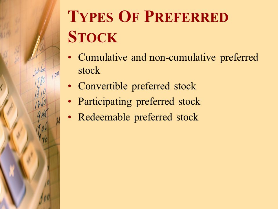 Types Of Preferred Stock