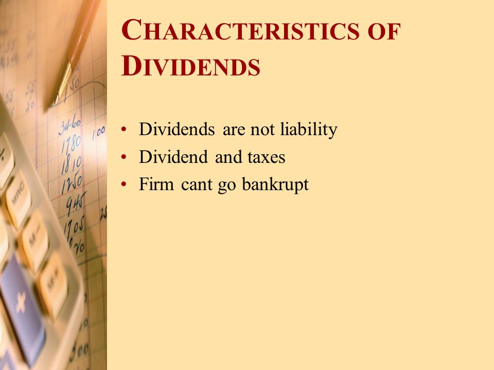 Characteristics of Dividends