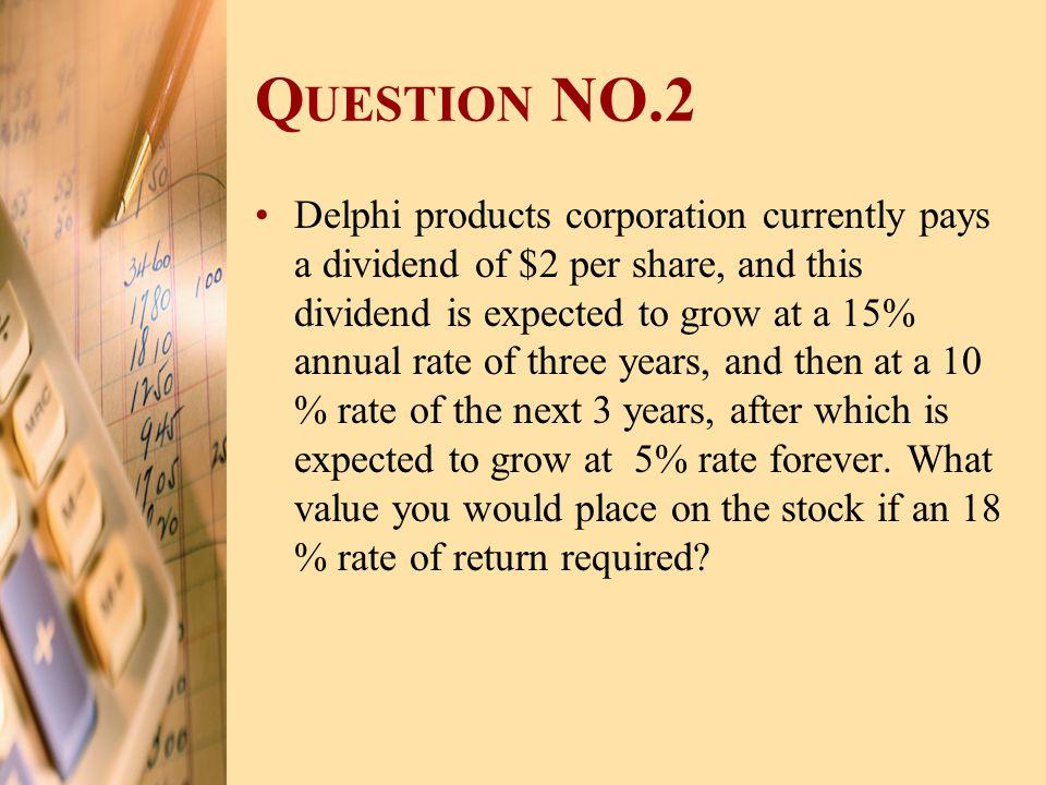 Question NO.2