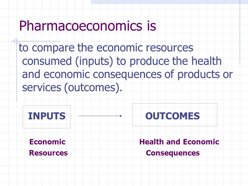 Pharmacoeconomics is