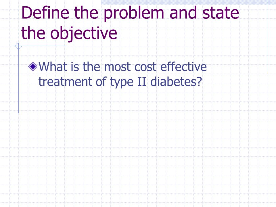 Define the problem and state the objective