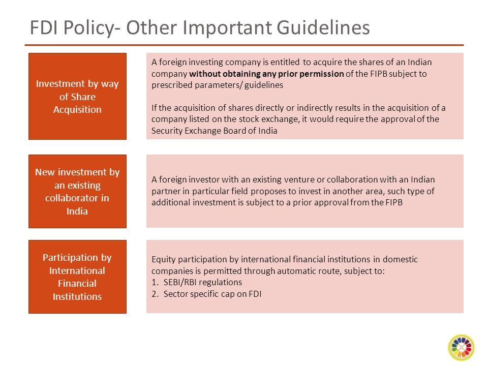 FDI Policy- Other Important Guidelines
