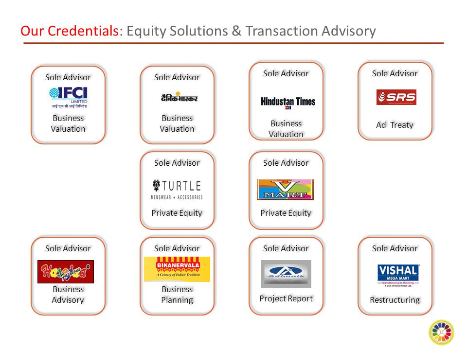 Our Credentials: Equity Solutions & Transaction Advisory