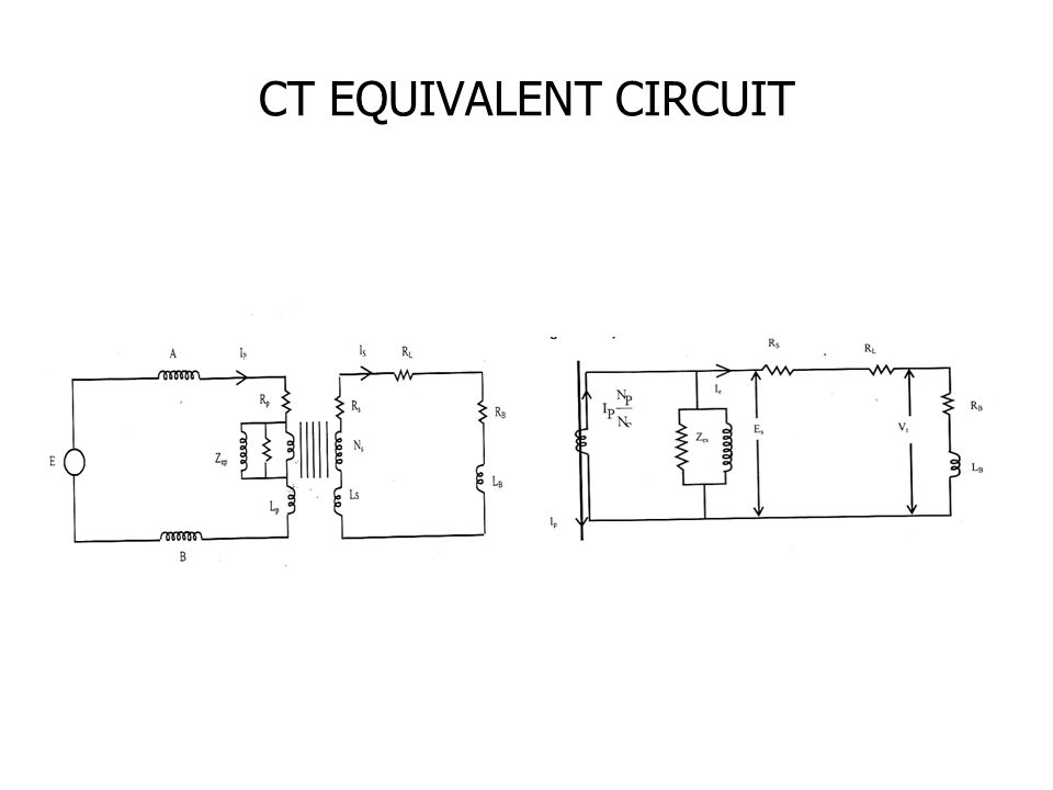 CT EQUIVALENT CIRCUIT