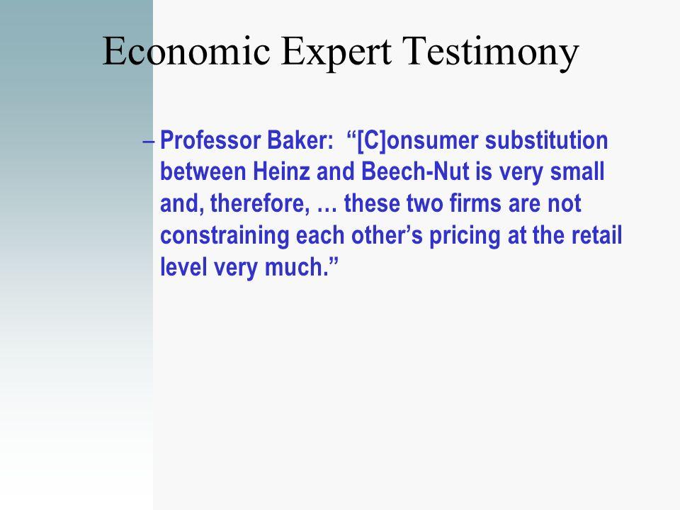 Economic Expert Testimony