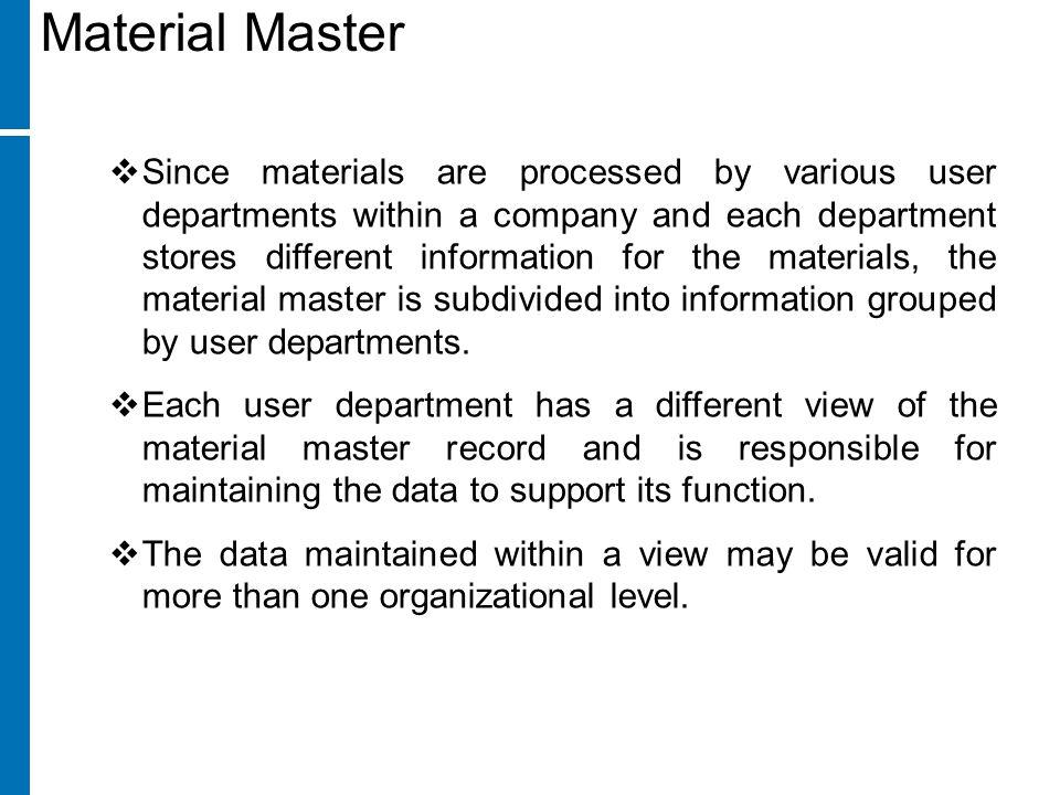 Material Master