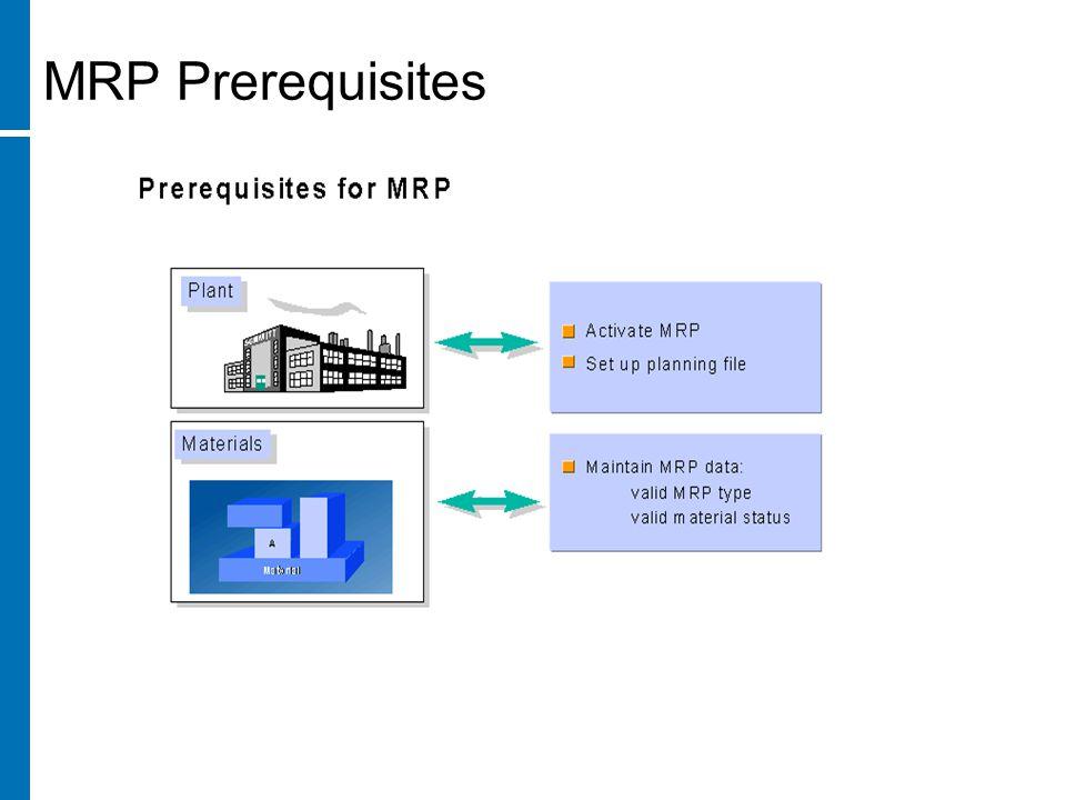 MRP Prerequisites
